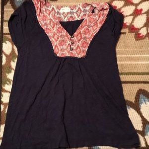 Nice Anthropologie Meadow Rue Embroidered Top